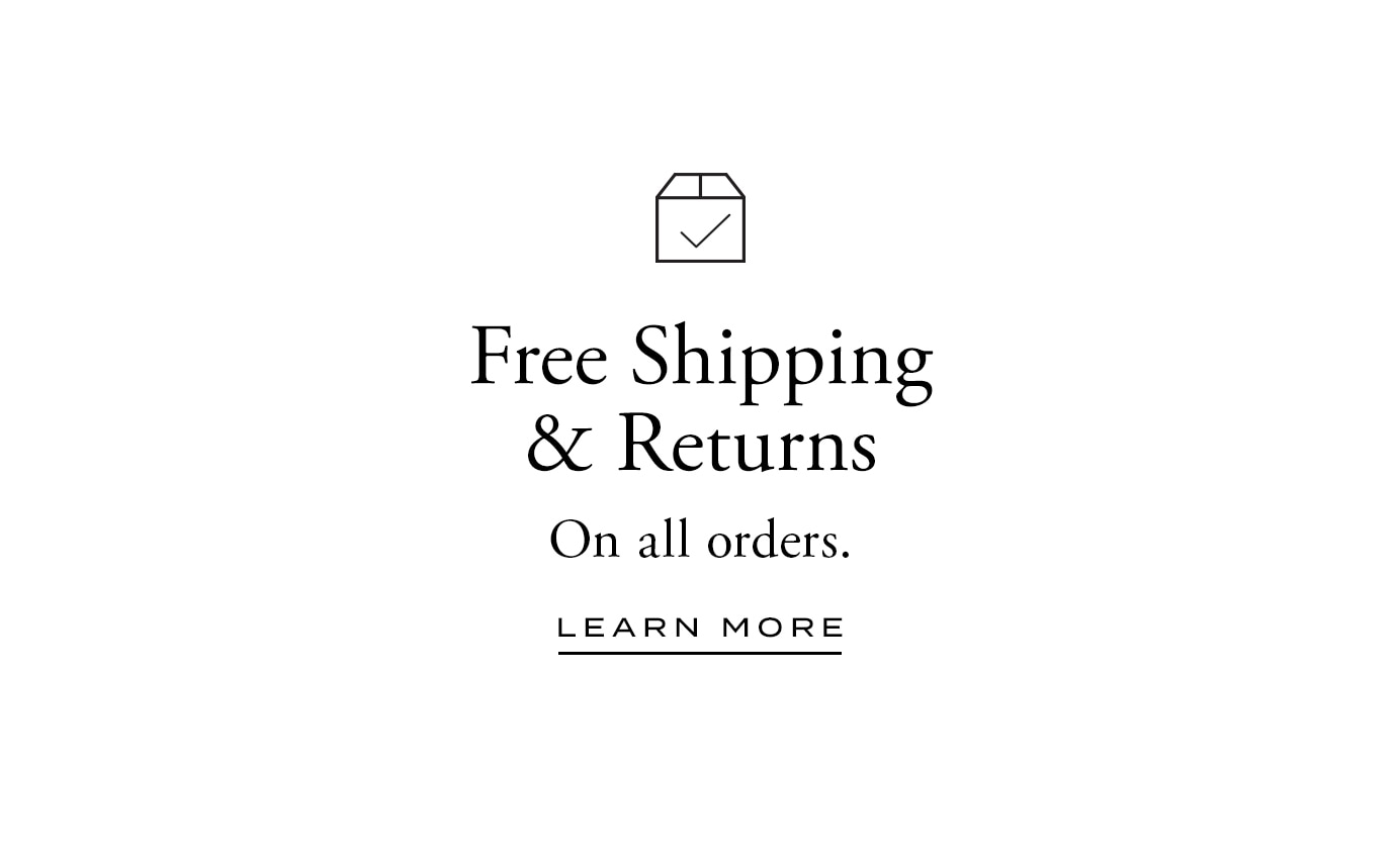 Free Shipping and Returns on All Orders